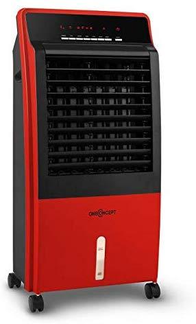 OneConcept CTR-1 Red Line - Rafraichisseur d'air, Ventilateur 4-en-1, Performance économe 65W, Production d'air 400m³/h, 3 Niveaux de Puissance,